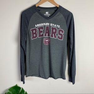 Missouri State University Bears Long Sleeve Tee M